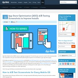 App Store Optimization (ASO): A/B Testing Screenshots to Improve Installs
