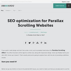 SEO optimization for Parallax Scrolling Websites