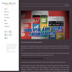 Tips for App Store Optimization - Scrollmantra