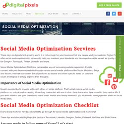 Social Media Optimization Services (SMO)