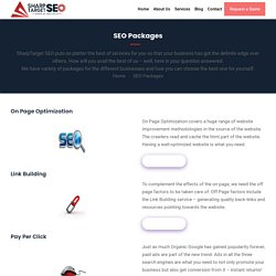 SEO Packages for different Optimization activities – SharpTarget SEO Packages