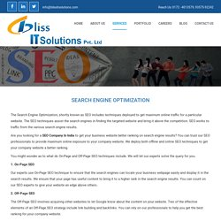 Seo Company in IT Park Chandigarh - Bliss IT Solutions