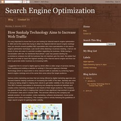 How Sankalp Technology Aims to Increase Web Traffic