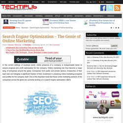 Search Engine Optimization – The Genie of Online Marketing