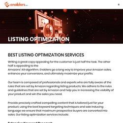 Listing Optimization Services