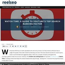 Watch Time: Optimization Guide for YouTube Ranking Factors