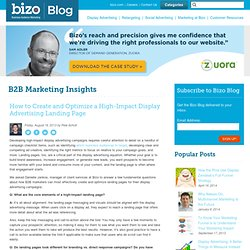 How to Create and Optimize a High-Impact Display Advertising Landing Page - B2B Marketing Insights