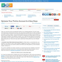 Optimize Your Twitter Account In 4 Easy Steps