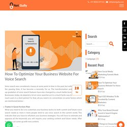 How To Optimize Your Business Website For Voice Search