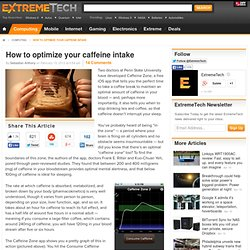 How to optimize your caffeine intake