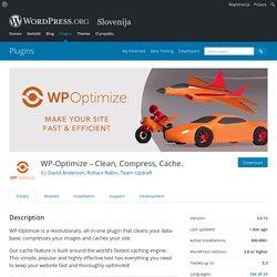 WP-Optimize – Clean, Compress, Cache. – WordPress plugin