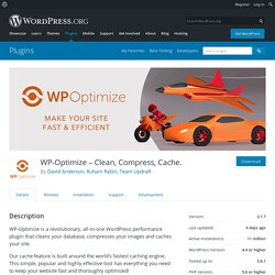 WP-Optimize – Clean, Compress, Cache. – WordPress plugin