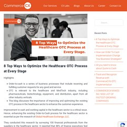 8 Top Ways to Optimize the Healthcare OTC Process at Every Stage