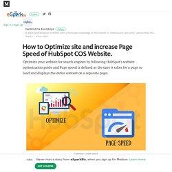 Easily Optimize HubSpot COS Website