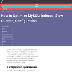 How to Optimize MySQL: Indexes, Slow Queries, Configuration