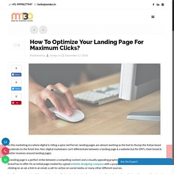 How To Optimize Your Landing Page For Maximum Clicks?