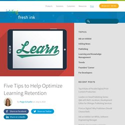 Five Tips to Optimize Learning Retention