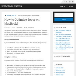 How to Optimize Space on MacBook? – Directory Nation