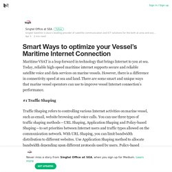 Global Maritime Satellite Internet Service in Singapore