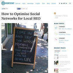 How to Optimize Social Networks for Local SEO