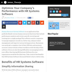 Optimize Your Company's Performance with HR Systems Software