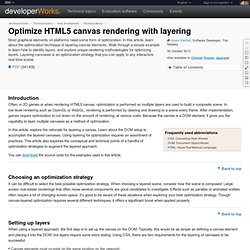Optimize HTML5 canvas rendering with layering