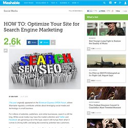 HOW TO: Optimize Your Site for Search Engine Marketing