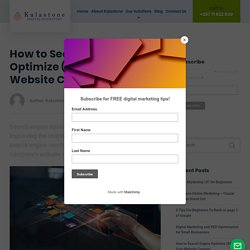 How to Search Engine Optimize (SEO) Your Website Content -
