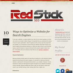 Ways to Optimize a Website for Search Engines