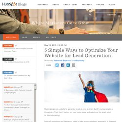 5 Simple Ways to Optimize Your Website for Lead Generation