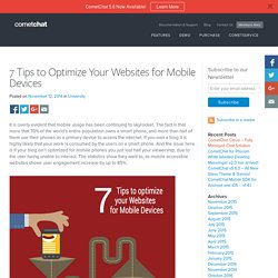 7 Tips to Optimize Your Websites for Mobile Devices - Blog