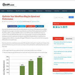 Optimize Your WordPress Blog for Speed and Performance