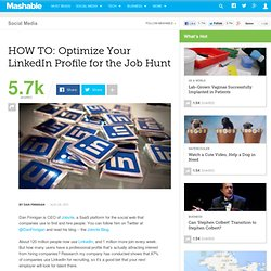 HOW TO: Optimize Your LinkedIn Profile for the Job Hunt