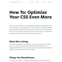 How To: Optimize Your CSS Even More
