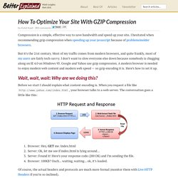 How To Optimize Your Site With GZIP Compression