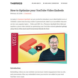 How to Optimize your YouTube Video Embeds