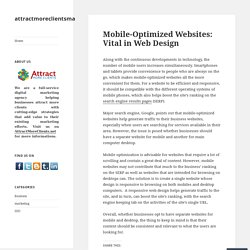 Mobile-Optimized Websites: Vital in Web Design