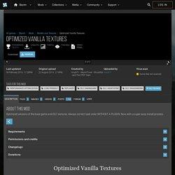 Optimized Vanilla Textures at Skyrim Nexus