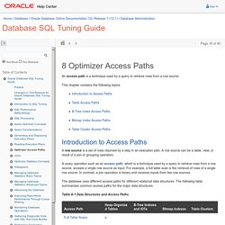 Optimizer Access Paths