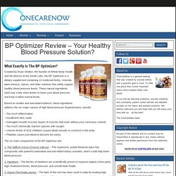 BP Optimizer Review - Your Healthy Blood Pressure Solution?