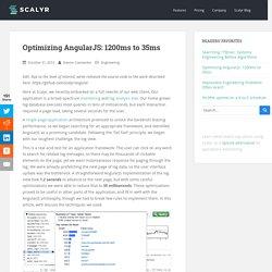 Optimizing AngularJS: 1200ms to 35ms - Scalyr Blog