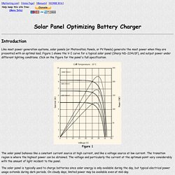 Solar Panel Optimizing Battery Charger