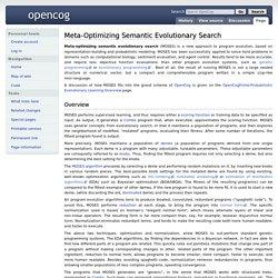 Meta-Optimizing Semantic Evolutionary Search - OpenCog