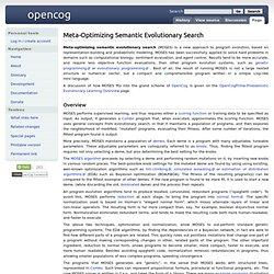 Meta-Optimizing Semantic Evolutionary Search
