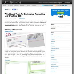 Web-Based Tools for Optimizing, Formatting and Checking CSS