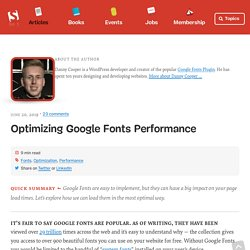 Optimizing Google Fonts Performance
