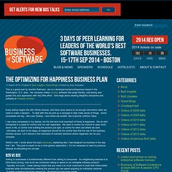 The Optimizing for Happiness Business Plan