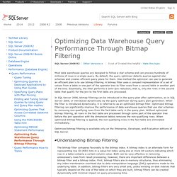 Optimizing Data Warehouse Query Performance Through Bitmap Filtering