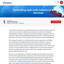 Optimizing OpEx with Salesforce Managed Services