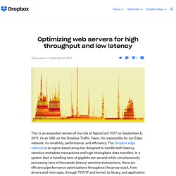 Optimizing web servers for high throughput and low latency